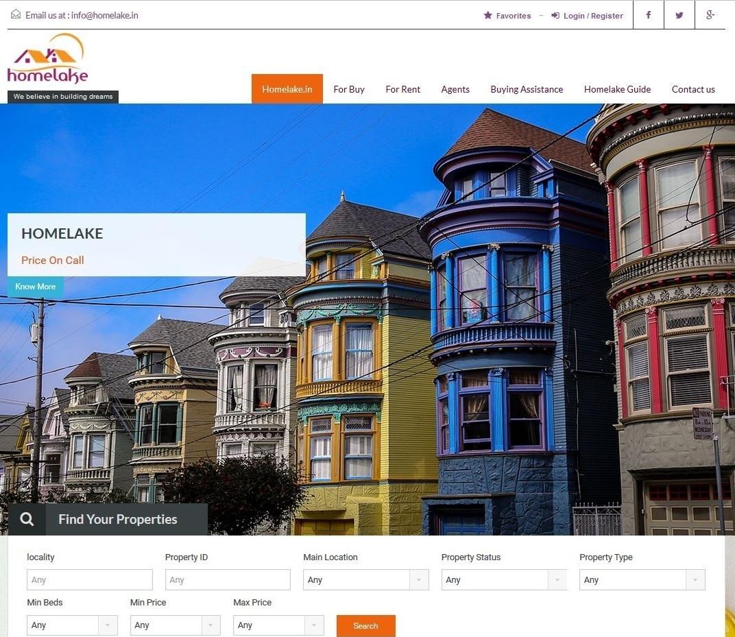 Homelake.in  – Real Estate Website
